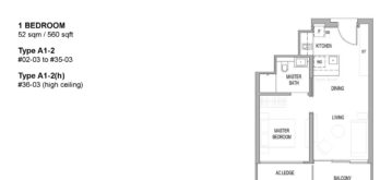 riviere-floor-plan-1-bedroom-singapore-condo